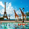 "DEInternationalGraphics Acrylglasbild ""Giraffe Eiffel Bridge"" von Patrick Le Hec´h, Grafikdruck"