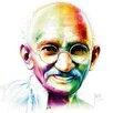 """DEInternationalGraphics """"Gandhi - I am Love"""" von Patrice Murciano, Kunstdruck"""