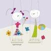 """DEInternationalGraphics """"Children on a Swing"""" von Sigal Melinger, Grafikdruck"""