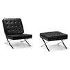 DandGSofas Barcelona Lounge Chair and Footstool Set