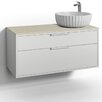 Svedbergs DK 100cm Wall Mounted Vanity Unit Right Water Trap
