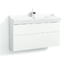 Svedbergs Stil Smooth 100cm Wall Mounted Vanity Unit including two drawers and a water trap