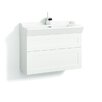 Svedbergs Stil Frame 80cm Wall Mounted Vanity Unit including two drawers and a water trap