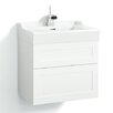 Svedbergs Stil Frame 60cm Wall Mounted Vanity Unit including two drawers and a water trap
