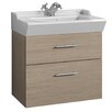 Svedbergs Stil Smooth 61cm Wall Mounted Vanity Unit and Washbasin including two drawers and a water trap