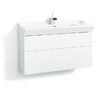 Svedbergs Stil Smooth 100cm Wall Mounted Vanity Unit and Washbasin including two drawers and a water trap