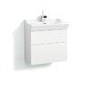 Svedbergs Stil Smooth 60cm Wall Mounted Vanity Unit and Washbasin including two drawers and a water trap