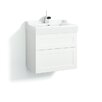Svedbergs Stil Frame 60cm Wall Mounted Vanity Unit and Washbasin including two drawers and a water trap