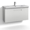 Svedbergs Forma 100cm Wall Mounted Vanity Unit with one drawer for integrated handle