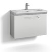 Svedbergs Forma 80cm Wall Mounted Vanity Unit with one drawer for integrated handle