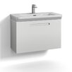 Svedbergs Forma 80cm Wall Mounted Vanity Unit and Basin with one drawer for integrated handle