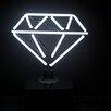Neon Mfg. Diamond Desktop Neon Sign