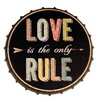 Byron Anthony Home Love Bottle Cap Sign Wall Décor