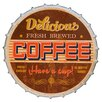 Byron Anthony Home Delicious Coffee Metal Bottle Cap Wall Décor