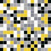 "Terraferma Standard Mix 13"" x 13"" Glass Mosaic Tile in Yellow/Black"