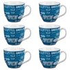 Cambridge Oxford Coffee Shop Fine China Mug (Set of 6)