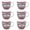 Cambridge Oxford Cranborne Fine China Mug (Set of 6)