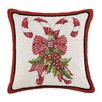 Mary Lake Thompson Candy Cane Hook Wool Throw Pillow