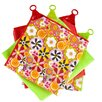 Vigar Citric 4-Piece Tea Towel Set