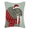 Scott Church Portrait of a Walrus Wool Hook Lumbar Pillow