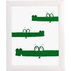Fancy HuLi Croc Party by Ivy Framed Graphic Art
