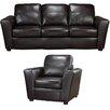 Coja Delta Italian Leather Sofa and Chair Set