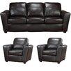 Coja Delta Italian Leather Sofa and 2 Chair Set