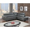 Coja Memphis Leather Air Modern Sectional (Set of 2)