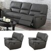 Coja Harris Recliner Sofa and Two Recliner Chair Set (Set of 3)