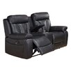 Coja Plymouth Leather Reclining Loveseat