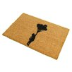 Artsy Doormats Flying Balloon Girl Doormat