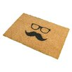 Artsy Doormats Mustache and Glasses Doormat
