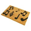 Artsy Doormats Music Notes Doormat