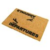 Artsy Doormats Arrivals and Departures Doormat