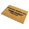 Artsy Doormats Yell Ding Dong Doormat