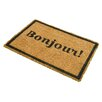 Artsy Doormats Bonjour Doormat with Border