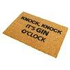 Artsy Doormats Gin O'Clock Doormat
