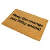 Artsy Doormats Keep the Change Doormat