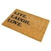 Artsy Doormats Live Laugh Love Doormat