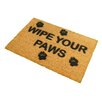 Artsy Doormats Wipe Your Paws Doormat