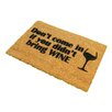 Artsy Doormats Without Wine Doormat