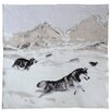 Jules Pansu Huskies Cream Area Rug