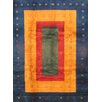 Pasargad NY Gabbeh Blue/Yellow Hand-Knotted Area Rug