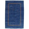 Pasargad NY Gabbeh Hand-Knotted Blue Area Rug