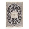 Pasargad NY Fine Persian Hand-Knotted Beige/Black Area Rug