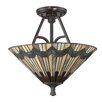 Quoizel Alcott 2 Light Semi Flush Mount
