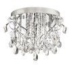 Quoizel Enrapture Platinum 8 Light Flush Mount