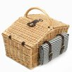 Greenfield Somerley Willow Picnic Hamper for Four People with Matching Blanket