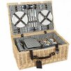 Greenfield Cheltenham Willow Picnic Hamper for Four People