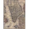Graffitee Studios 1847 Lower Manhattan Map Graphic Art on Wrapped Canvas
